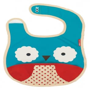 Skip Hop Zoo Tuck-Away Baby Bib Owl