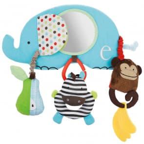 Skip Hop Alphabet Zoo Stroller Bar Toys Elephant Mirror
