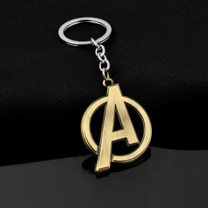 Captain America A Logo Metal Keychain